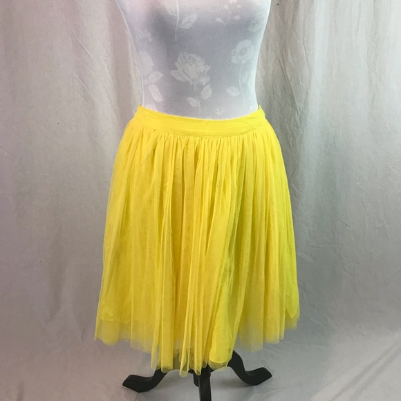 f40c2ae44 ASOS Skirts | Yellow Tulle Skirt | Poshmark